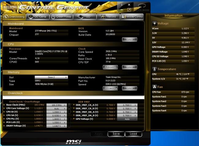 Обзор материнской платы MSI Z77 MPOWER