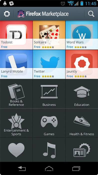 Магазин приложений Firefox Marketplace стал доступен для тестирования
