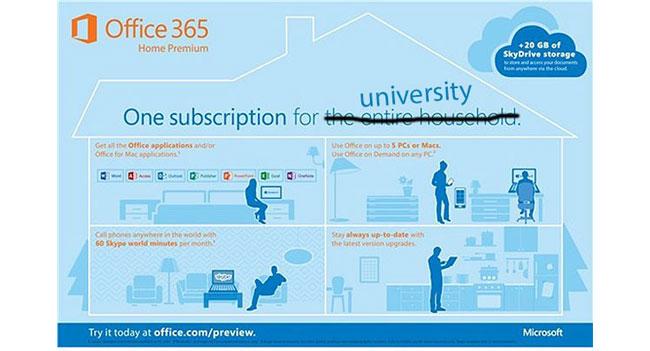 Microsoft анонсировала сервис Office 365 University для студентов