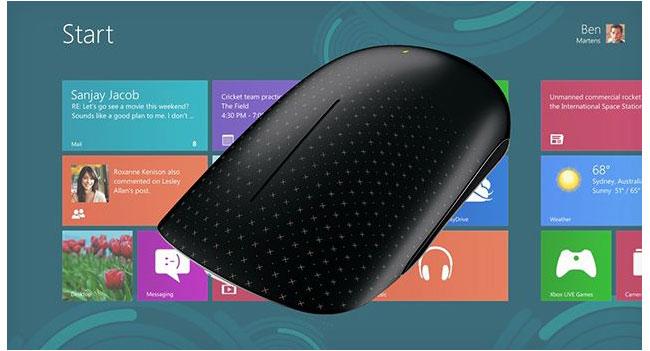 Microsoft реализовала поддержку жестов в Windows 8 для мыши Touch Mouse