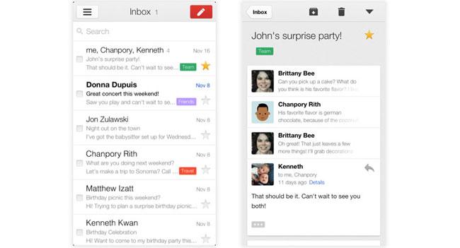 Google обновила приложение Gmail для iOS до версии 2.0