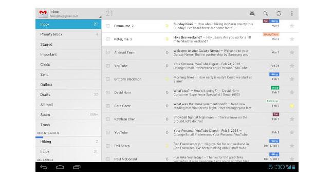 Google обновила мобильное приложение Gmail