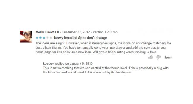 Разработчики приложений смогут отвечать на отзывы в Google Play
