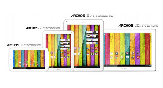 Archos представила на CES 2013 линейку доступных планшетов Titanium