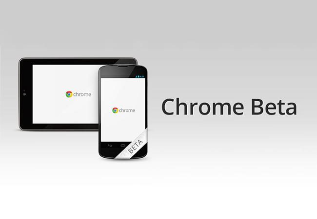 Google выпустила Chrome Beta для смартфонов и планшетов на Android 4.0+