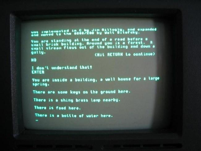 Так играли в сюжетные игры в 1970-х годах: Colossal Cave Adventure на экране ПК Osborne