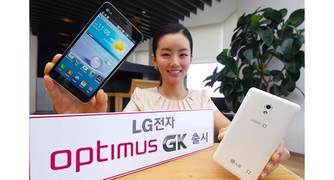 LG выпустила смартфон Optimus GK с 5-дюймовым Full HD дисплеем