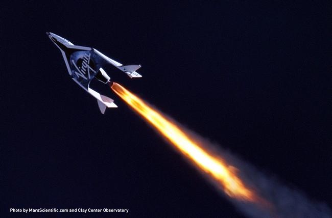 Virgin Galactic SpaceShipTwo провел первое летное испытание реактивного двигателя