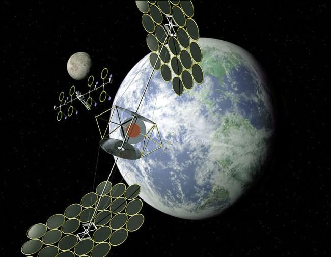 Концепт орбитальной солнечной электростанции NASA SERT