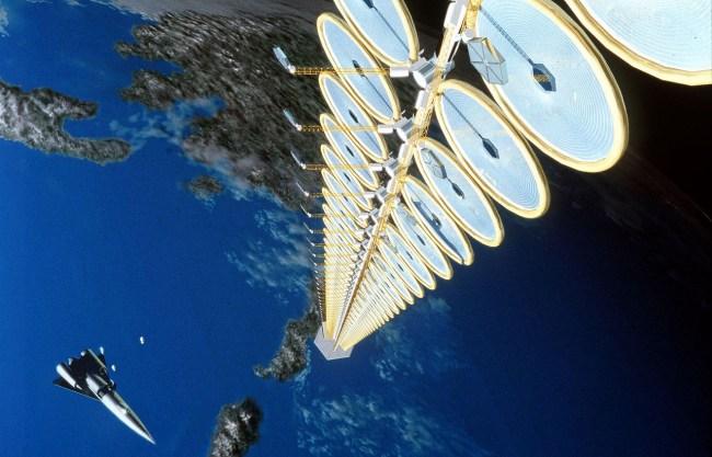 Концепт орбитальной солнечной электростанции NASA Suntower