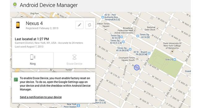 Google начала внедрение функции Android Device Manager