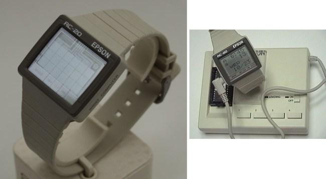 Умные часы RC-20 Wrist Computer были выпущены компанией Epson, компьютерным подразделением Seiko (1985 год)