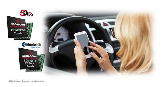 Broadcom анонсировала беспроводные чипы для автомобилей