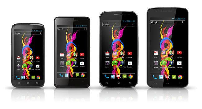 Archos выпустила четыре бюджетных смартфона с поддержкой двух SIM-карт