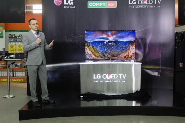 Антон Ярош, старший специалист по маркетингу ТВ-продукции компании «LG Electronics Украина»: «Сегодня изогнутые экраны являются одним из основных трендов в мире электроники»