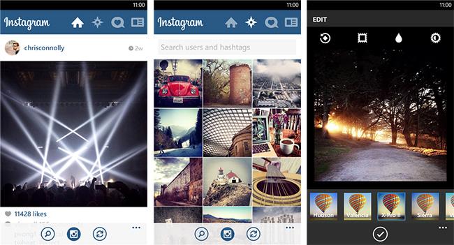 Вышло приложение Instagram для Windows Phone с рядом функциональных ограничений