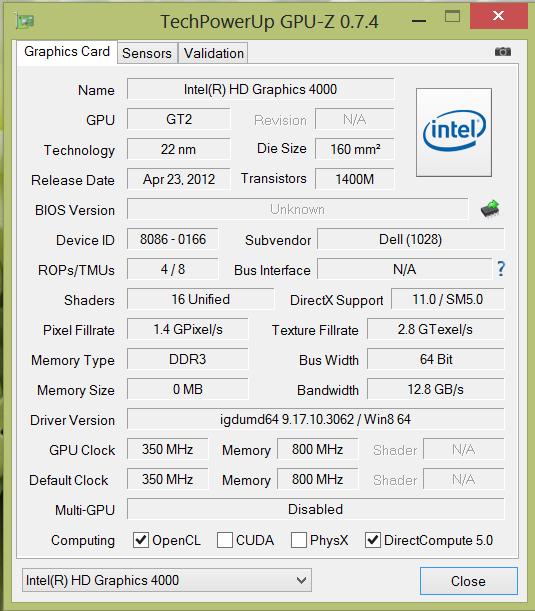 Dell_XPS_18_GPU-Z_info
