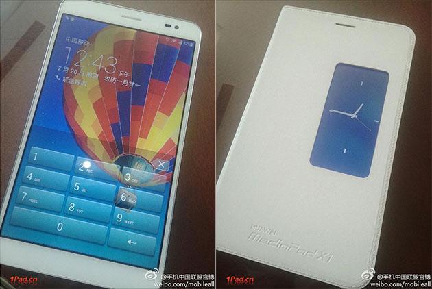 Планшет Huawei Media Pad X1 7-дюймовым дисплеем 1920x1200 точек и 4-ядерным процессором HiSilicon 910 с частотой 1,6 ГГц. Также сообщается о наличии 2 ГБ оперативной памяти, 16 ГБ встроенной флэш-памяти и батареи емкостью 6000 мАч. Согласно имеющейся информации, устройство поддерживает функцию осуществления телефонных разговоров, а в качестве опции доступен модуль LTE. Вместе с планшетом может использоваться обложка, оснащенная дополнительным дисплеем. Ожидается, что цена новинки составит около $200 (вероятно речь идет о модели без LTE и без обложки).