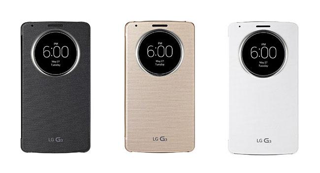 LG анонсировала чехол с окном QuickCircle для смартфона G3