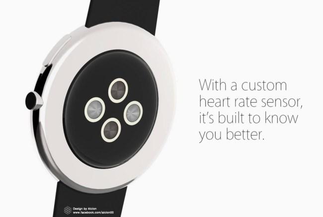 И пульсометр в Apple Watch круглый