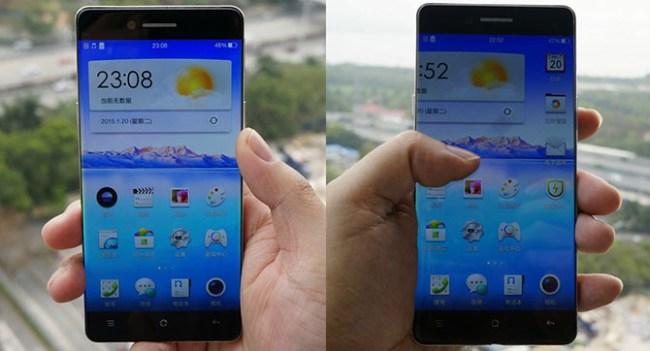 Появились изображения смартфона Oppo с незаметными рамками по бокам дисплея
