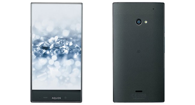Sharp анонсировала смартфон Aquos Crystal 2, лишённый рамок вокруг дисплея
