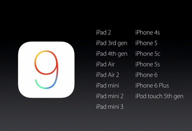 iOS 9 станет доступной для загрузки с 20:00 по киевскому времени