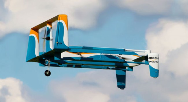 Amazon показала процесс доставки заказа при помощи дрона службы Prime Air