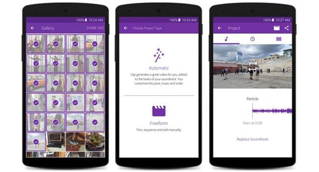 Adobe выпустила видеоредактор Premiere Clip для Android