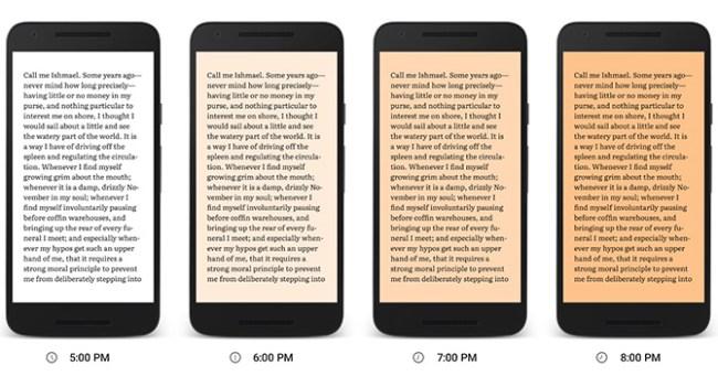 В приложении Google Play Books появился режим для ночного чтения