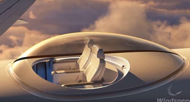 В Windspeed Technologies предлагают оснастить самолёты обзорными площадками