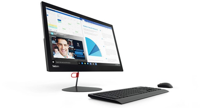 Lenovo привезла на CES 2016 моноблок ThinkCentre X1 и монитор ThinkVision X1