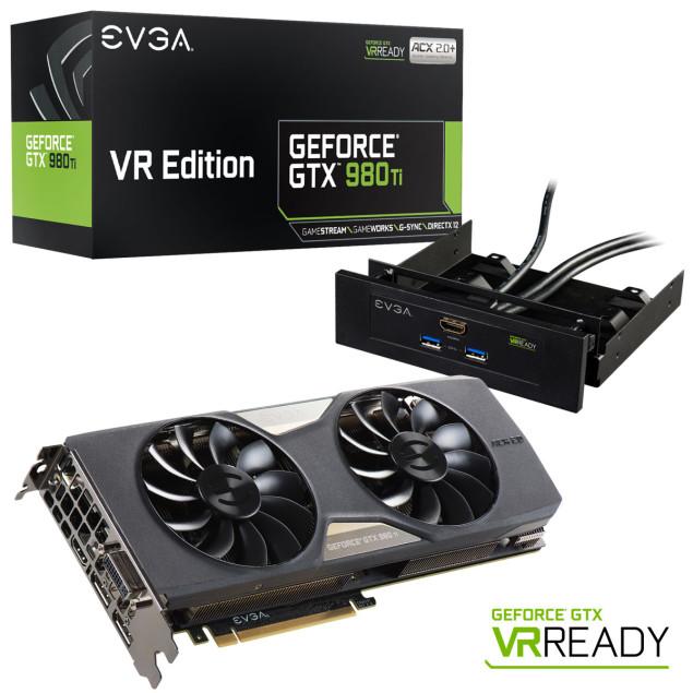 EVGA представила специальную версию видеокарты GeForce GTX 980 Ti для шлемов виртуальной реальности