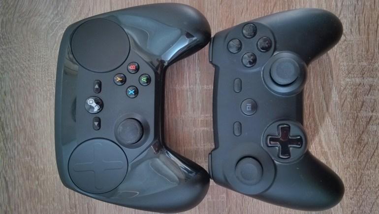 Steam Controller в сравнении Xiaomi Gamepad