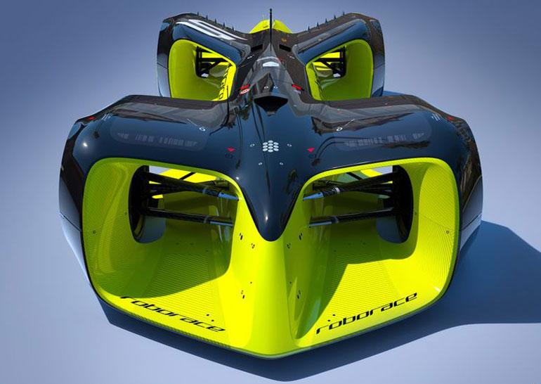 Организаторы гонок беспилотных автомобилей Roborace показали дизайн машин