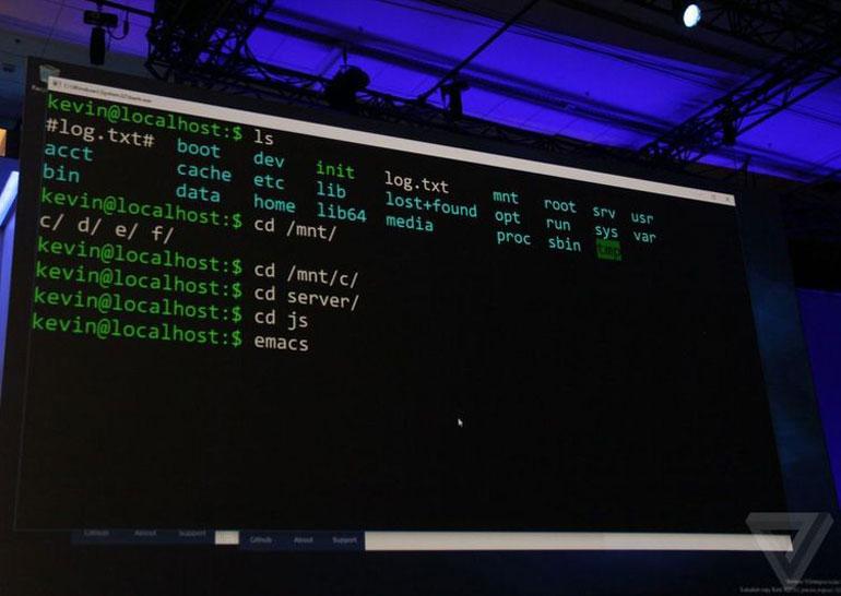 Microsoft добавит командную строку Linux непосредственно в Windows 10