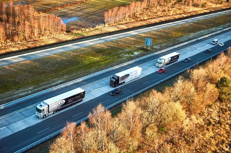 Колонны беспилотных грузовиков успешно завершили своё первое масштабное путешествие по Европе