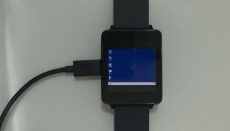 Разработчику понадобилось целых три часа, чтобы запустить Windows 7 на Android Wear-часах LG G Watch [видео]