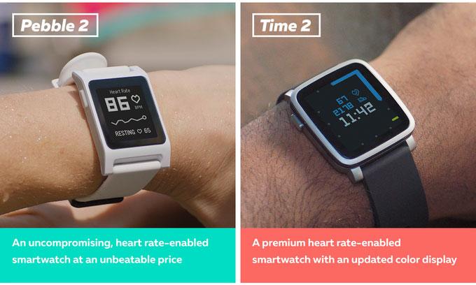 Pebble вышла на Kickstarter с новыми версиями умных часов Pebble 2 и Pebble Time 2 и носимым устройством Pebble Core