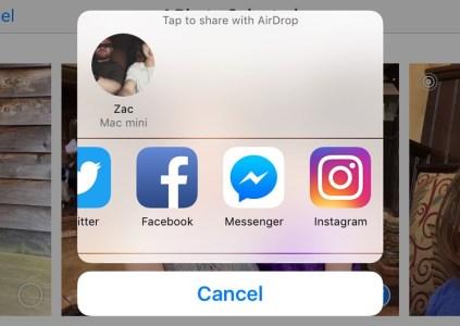 В iOS теперь можно публиковать фотографии в Instagram прямо из галереи «Фото»