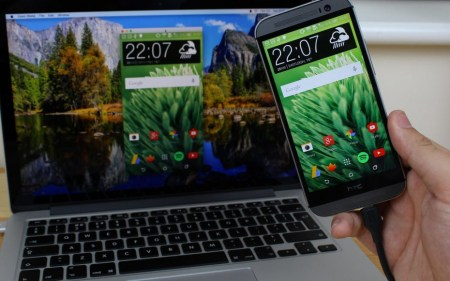Vysor позволяет браузеру Chrome зеркалировать экран Android смартфона по беспроводному подключению