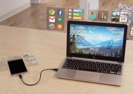 «Ноутбук без мозгов»: аксессуар Superbook за $99 позволит трансформировать Android-смартфон в лэптоп