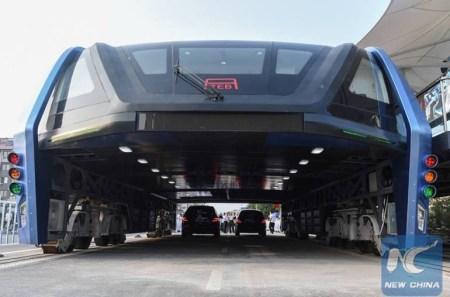 Проект китайского «автобуса будущего» TEB (Straddling Bus) может оказаться аферой