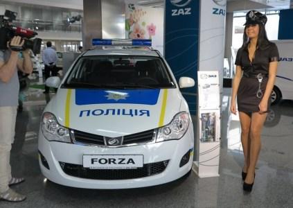 Национальная полиция Украины получит 18 специально оборудованных патрульных автомобилей ZAZ Forza и ZAZ Vida