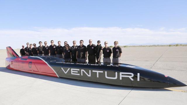 Самый быстрый электромобиль в мире Venturi VBB-3 установил мировой рекорд скорости - 549,1 км/ч