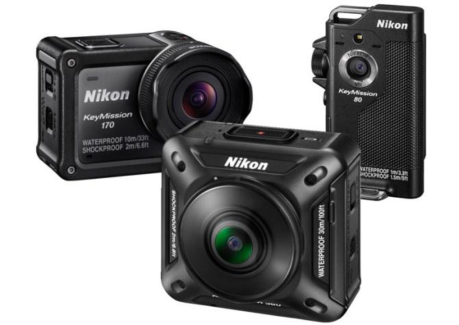 Представлены защищенные экшн-камеры Nikon Key Mission 170 и Key Mission 80. Модель Key Mission 360 с круговым обзором выйдет в октябре и будет стоить $499