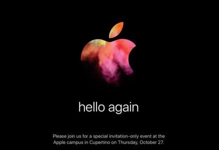 27 октября Apple представит новые продукты на мероприятии «hello again»