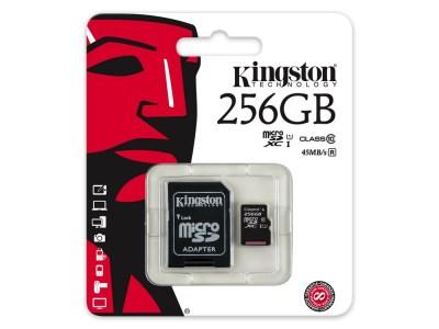 Kingston Digital представила карту памяти microSDXC Class 10 емкостью 256 ГБ