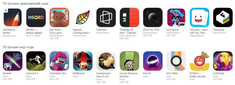 Apple назвала лучшие приложения, игры, фильмы и музыку 2016 года