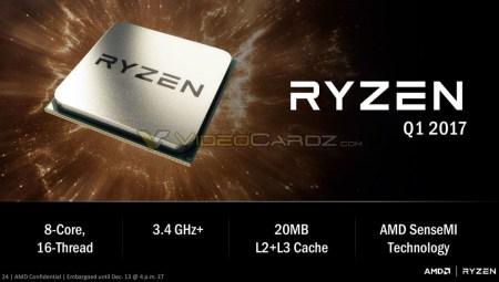 Процессоры AMD Zen будут продаваться под брендом Ryzen. В сеть утекли слайды сегодняшней презентации чипов